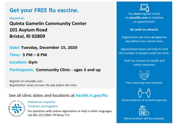 Flu Clinic 12.15.2020