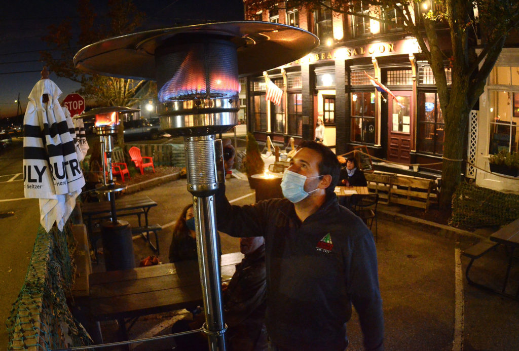 With Heat Lamps, Lights and Tents, Restaurants Press On, EastBayRI