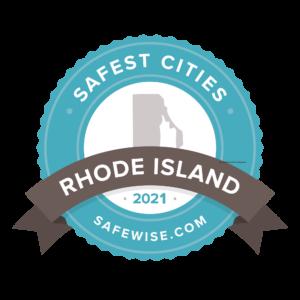 Safest Cities Rhode Island Safewise Badge2021